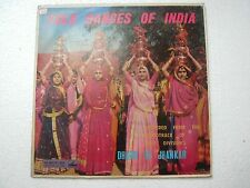 FOLK DANCES OF INDIA BHANGRA KOLI GOND BANJARA GARBA  RARE LP RECORD vinyl  vg+