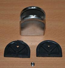 pince à verre / porte verre en acier inoxydable - 8 à 10 mm