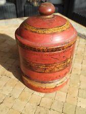 Très ancienne Boîte en Bois polychrome à épices du Pakistan XVIIIème