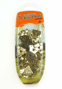 X' 3 #  Large Brass Plated Picture Hooks (Pack of 20)