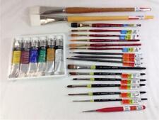 Lot of 18 Paintbrushes by Zen Royal Grumbacher Artist Loft Winsor Newton Paint