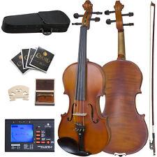 Cecilio Cva-500 16.5-inch Ebony Fitted Solid Wood Viola