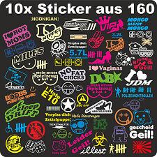 10,Aufkleber,Sticker,Stickerbomb,Shocker,JDM,ken block,Shocker,OEM,Bomb,Tuning