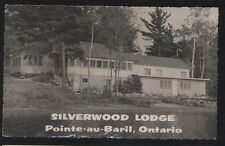 RP Postcard POINTE-au-BARIL Ontario/CANADA  Silverwood Tourist Lodge 1930's?