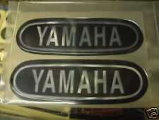 NEW Repro Yamaha CT1 AT DT & ? Others tank badges NICE! Blk/Chrome SM Style.