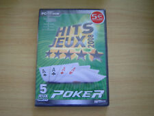 pc cd-rom hits jeux 2008 5 jeux complets poker