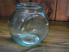 Vintage Style Small Glass Fish Bowl Candy Jar