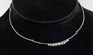 14K 2-tone gold elegant high fashion 1.44CT VS diamond formal necklace