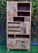Vintage Mango Timber Display Shelf Filing Cabinet Multi-Drawer Storage