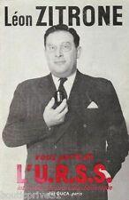 Livre  d'occasion de 1960 -Léon Zitrone Vous Parle De L' Urss