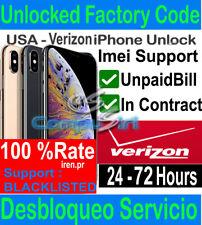 Verizon Unlock Service Usa iPhone 12 11 Pro Max iphone Xs max iphone 8