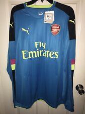 PUMA Men's Arsenal FC Shirt Long Sleeve W/ Sponsor Logo
