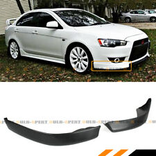 FOR 2008-15 MITSUBISHI LANCER JDM STYLE 2PC FRONT BUMPER LIP SIDE SPLITTERS CAP