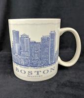 Starbucks Coffee Mug Tea Boston White Blue Brantown City