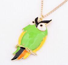 Random 2pcs Fashion gold Cute Owl Necklace With Big Eye Pendant Vintage Necklace