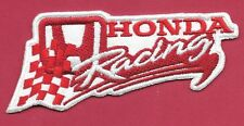New Honda Racing 'Red'  1 1/2 X 4   Inch  Iron on Patch Free Shipping