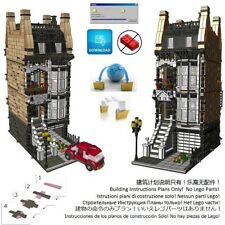 Lego Brownstone Terrace 2 Instructions Modular Custom Building Friends City Town