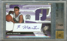 KEVIN MARTIN 2004-05 SPX BASKETBALL AUTO JERSEY RC 485/1999 #130 BGS 9/AU 10
