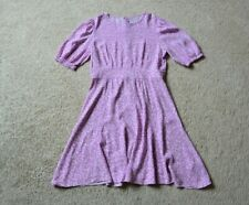 & OTHER STORIES  FLORAL PRINT PUFF SLEEVE DRESS SIZE 38 US S/M