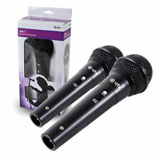 2 x BLACK DM11 DYNAMIC MICROPHONE KARAOKE PA RECORDING DJ MIKE WITH 3M CABLE