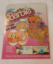 1983 Barbie Easter Wrap An Egg decoration set MINT IN PACKAGE FREE SHIPPING