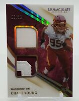 2020 Panini Immaculate CHASE YOUNG Rookie Relic #d /10 Washington