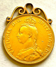 More details for 1887 gold double sovereign on mount