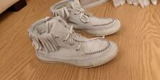 Converse All Star Off White Suede Ankle Boots/ Trainers  UK 7/ EU 40 Very good c
