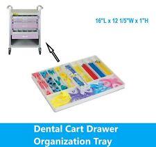Dental Procedure Cart Drawer Organization Tray Various Storage Options