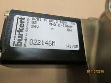 New Other, Burket 0281 A Two Way Solenoid Valve, 50,0 Nbr, 24V Dc, Brass Body.