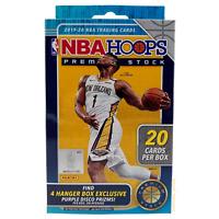 2019-2020 Panini NBA Hoops Premium Stock Blue Hanger Box, 20 Cards - NEW/SEALED