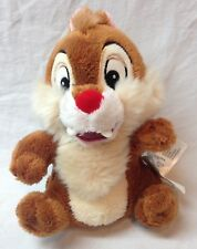 """Walt Disney Store Chip and Dale CHIP CHIPMUNK 6"""" STUFFED ANIMAL Toy NEW w/ TAG"""