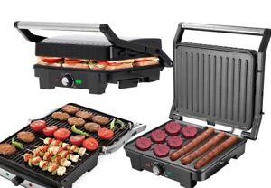 XXL Kontaktgrill 2800 Watt Sandwichtoaster Elektrogrill Panini-Maker Tisch Grill