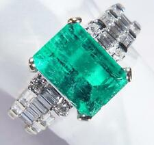 Emerald White Gold Fine Rings