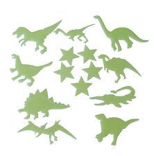 14 Pcs Green Plastic Dinosaur Star Ceiling Wall Stickers Decor Gift P1P2