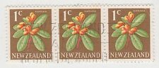 (NZK866) 1967 NZ 1c KARAKA 3strip (corner crease)(A)
