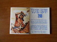 figurina WEST n.208 - ed. EDIS - completa di velina