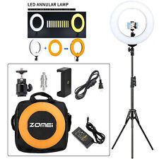 """14"""" LED Ring Light Dimmable 5500K Lighting for Camera Phone Photography Youtube"""