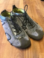 ECCO Men's Size 37 Gray Suede Leather Sneakers Trainers Shoes Casual GUC