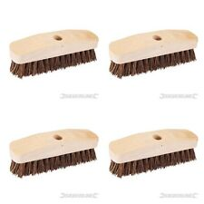4 X Deck Scrubbing SCRUBBER Brush Heavy Duty stiff bassine bristles 9inch (228mm
