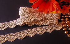 Exquisite gold color lace trim/ ribbon- price for 1 yard