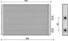 Wärmetauscher Heizungskühler für FIAT FORD MERCEDES RENAULT VW 0.8-6.75L 1969-