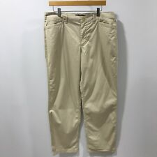 NEW LAUREN RALPH LAUREN Light Beige Chino Trousers Womens Size US12 UK 16 38612A