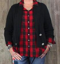 Peruvian Connection Cardigan Sweater M size Black Alpaca Womens Career Casual