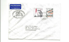 1996 Sweden priority cover to Netherland   fish  dolphin