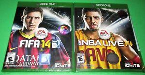 FIFA14 + NBA Live14 Microsoft Xbox One *Factory Sealed! *Free Ship!