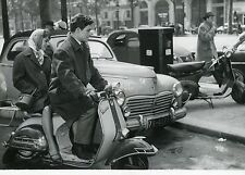 JACQUES CHARRIER  PASCALE PETIT LES TRICHEURS 1958 PHOTO ORIGINAL VESPA