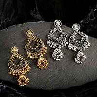 Women's Oxidized Metal Gold Silver Finish Women Fashion Jhumka Jhumki Earrings