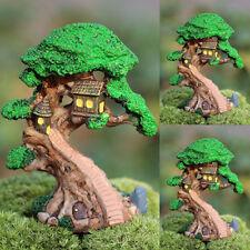 Old Tree House Mini Garden Ornament Miniature Figurine Craft Fairy Plant Pot DIY
