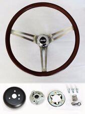 "1976-1995 Jeep CJ YJ Wrangler Wood Steering Wheel Low Gloss Grip Finish 15"""